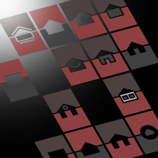 Homes (svg ; rendu jpg)  Dark pink homes or... - jcl-graphic-file