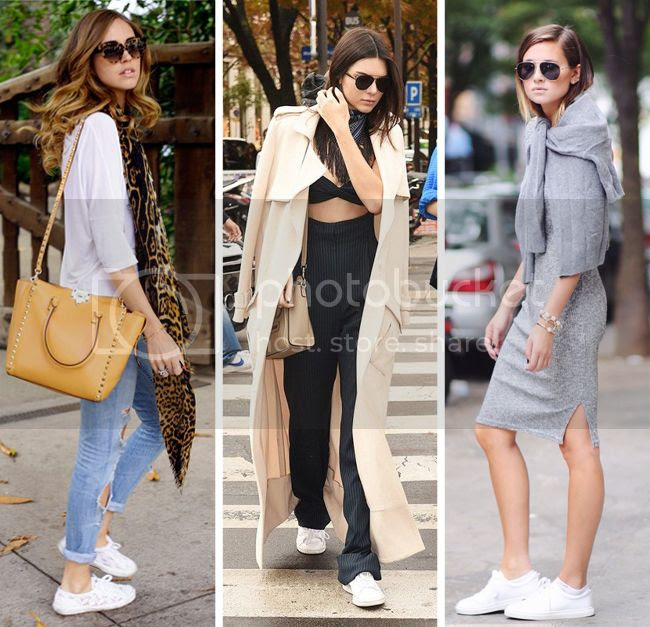 White Sneakers Kendall Jenner Street Style, how to wear white sneakers