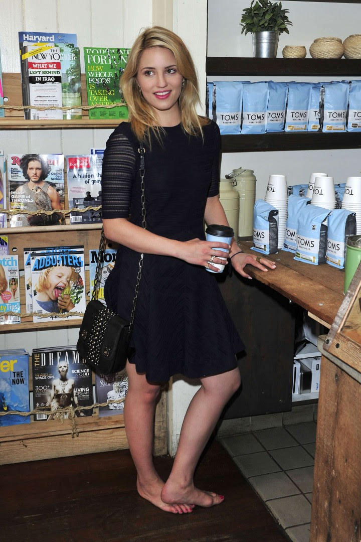 Dianna Agron – TOMS to Go One Day Without Shoes 2014 -04