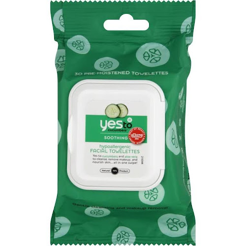 Yes to Cucumbers Hypoallergenic Facial Towelettes - 30 count