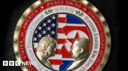 Coin for Trump-Kim 'peace talks' criticised