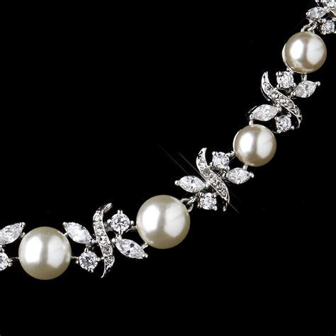 Timeless Elegant Pearl CZ Bridal Jewelry Set   Elegant