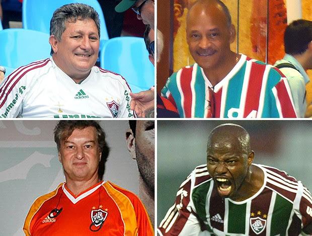montagem ídolos Fluminense FlaxFlu (Foto: Editoria de Arte / Globoesporte.com)