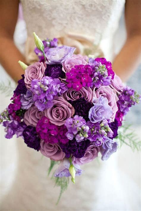 Best 25  Purple wedding bouquets ideas on Pinterest