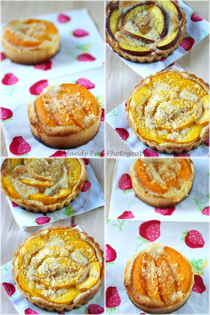 stone fruit tartlets