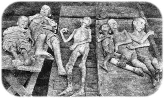 Las víctimas de la hambruna-genocidio de 1932-3 en Ucrania.