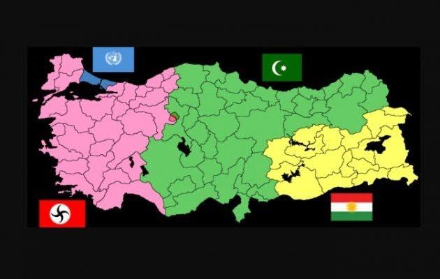 Μια βραχεία πολεμική σύγκρουση  Ελλάδας – Τουρκίας θα φέρει  ως φυσικό επακόλουθο το  διαμελισμό της Τουρκίας.