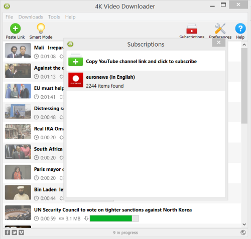 Subscribe to YouTube channels right in 4K Video Downloader | 4K Download