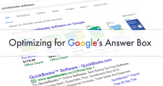 How to Optimize Your Site for Google's Answer Box | SEJ