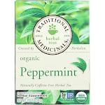 Traditional Medicinals Herbal Tea, Peppermint - 16 tea bags, 0.85 oz box