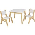 KidKraft Modern Table & 2 Chair Set, White/Beige