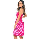 petiteRiviera Sun Strapless Tube Short Dress / Summer Dresses (Fuchsia / White