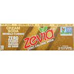 Zevia Soda, Zero Calorie, Cream - 10 pack, 12 fl oz cans
