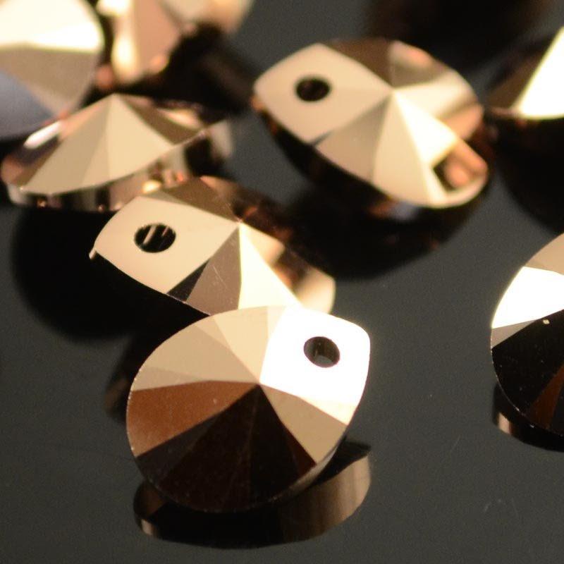 34761281045004 Swarovski Elements Pendant - 10 mm Mini Pear (6128) - Crystal Rose Gold 2X (1)