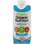 Orgain High Protein Vegan Vanilla Nutritional Shake - 12 pack, 11 fl oz cartons