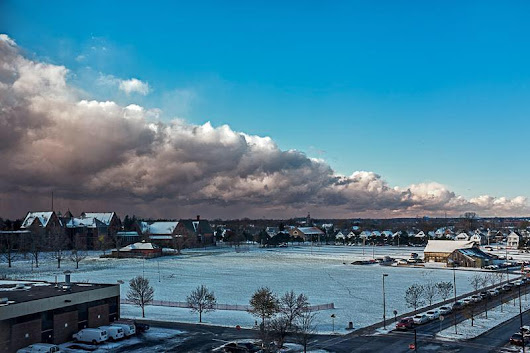 Stunning Video Of Today's Lake Effect Snow Storm Dividing The City Of Buffalo