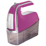 Hamilton Beach - 6 Speed Hand Mixer with Snap-On Case - Red
