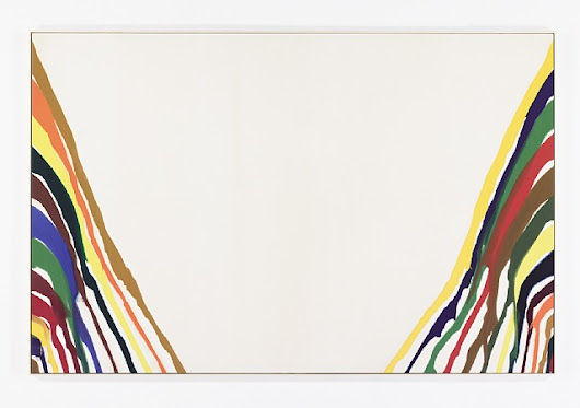 artnet Galleries: Beta Alpha by Morris Louis from Mitchell-Innes & Nash