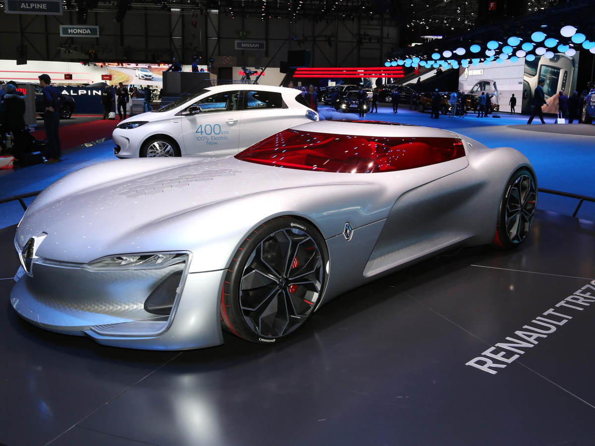 Two of the show's most eye-catching exhibits were the Renault Trezor electric concept and ...