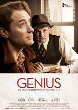 Genius - Die tausend Seiten einer Freundschaft Filmplakat