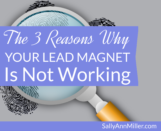 The 3 Reasons Why Your Lead Magnet Is Not Working