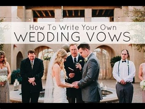 How to write your personal wedding vows tips for writing