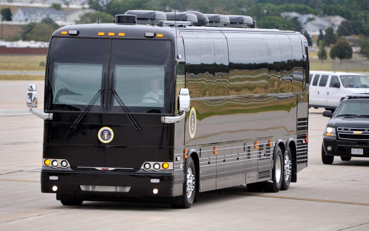 "And just like ""Cadillac One,"" Obama's Ground Force One is painted jet black."