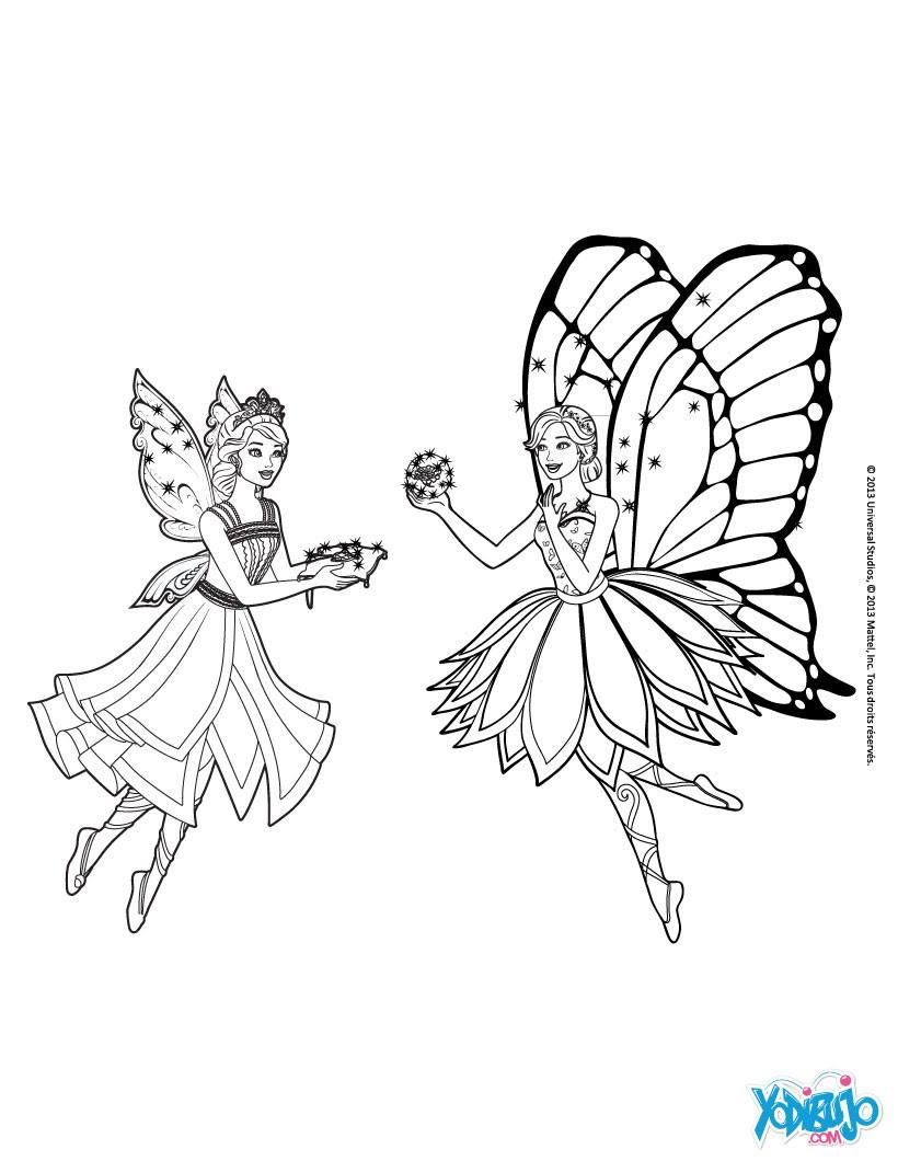 Adorável Desenho Para Colorir Barbie Butterfly Melhores