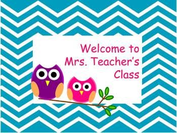 Back to School Welcome Sign - editable - add your Class name ...