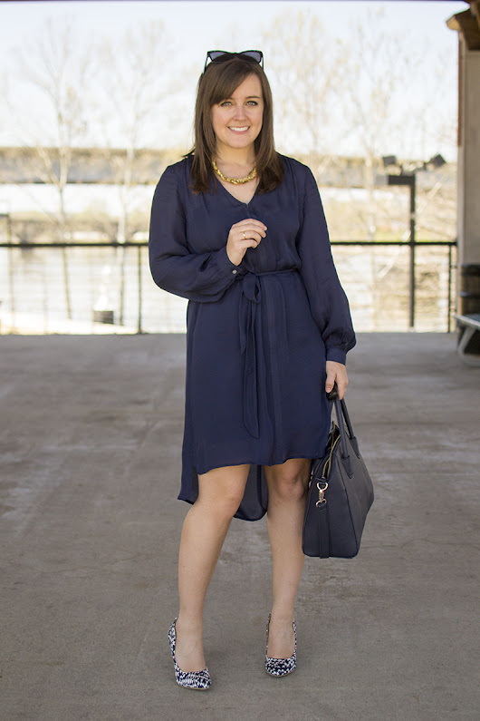 AJ Wears :: A Navy Dress