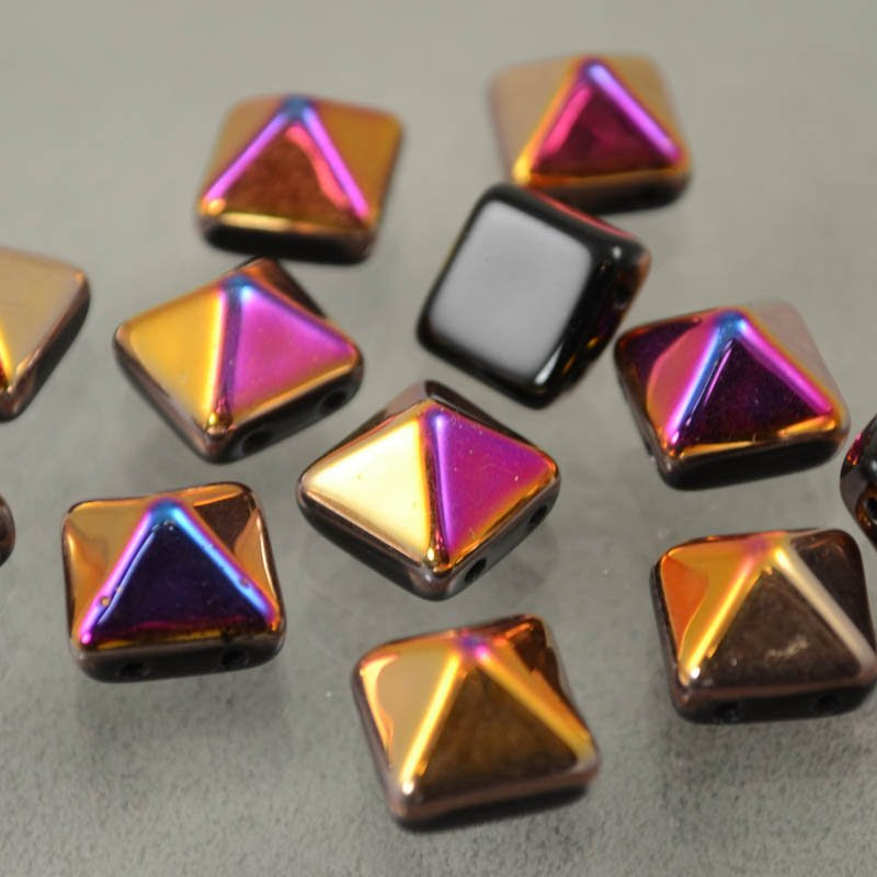 s37640 Glass Beads - 12 mm Bead Stud - Jet Sliperit (1)