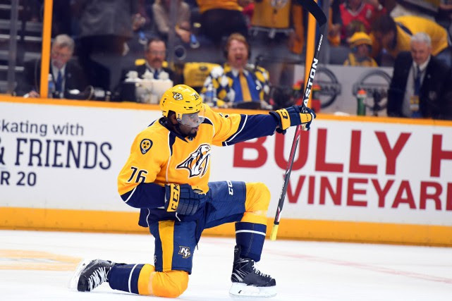 P.K. Subban... (PHOTO Christopher Hanewinckel, USA Today Sports)