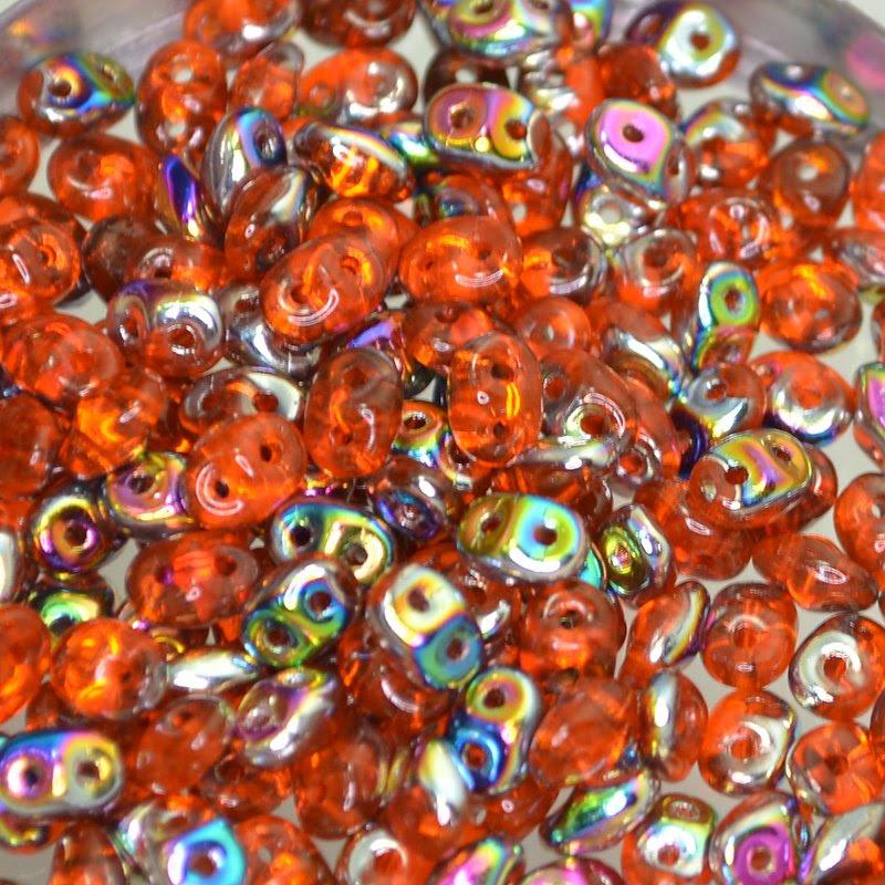 s42854 Czech Seedbeads - 2 Hole Superduos - Hyacinth Vitrail