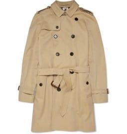Burberry London Trench 37 Cotton Gabardine Coat