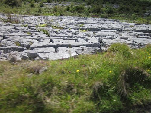 Limestone surface