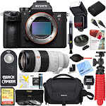 Sony a7R III Full-Frame Mirrorless Interchangeable Lens 42.4MP Camera Body (ILCERM3/B) + 100-400mm Super Telephoto Zoom Lens Accessory Bundle, Size: