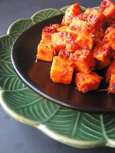 Jerk-roasted Sweet Potatoes