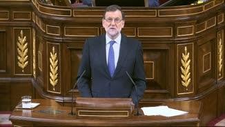 El president del govern en funcions, Mariano Rajoy, intervenint al Congrés aquest dimecres al matí