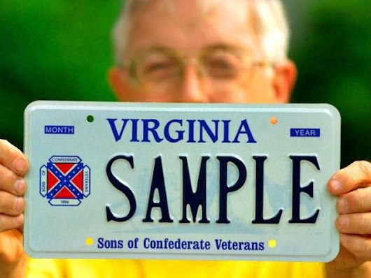 VA Drivers Refusing to Return Confederate License Plates - Breitbart