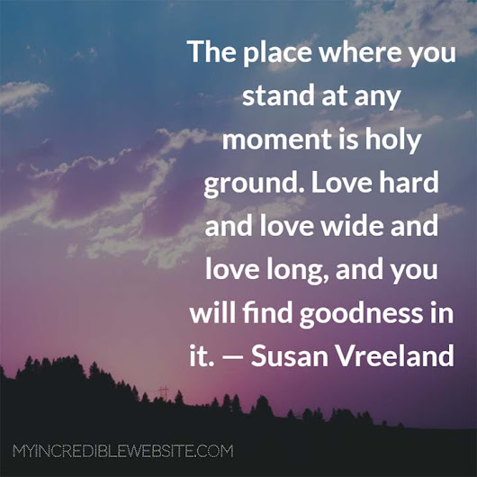 Susan Vreeland: On Love