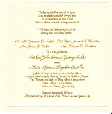 wedding invitation valdes castellon nuptials