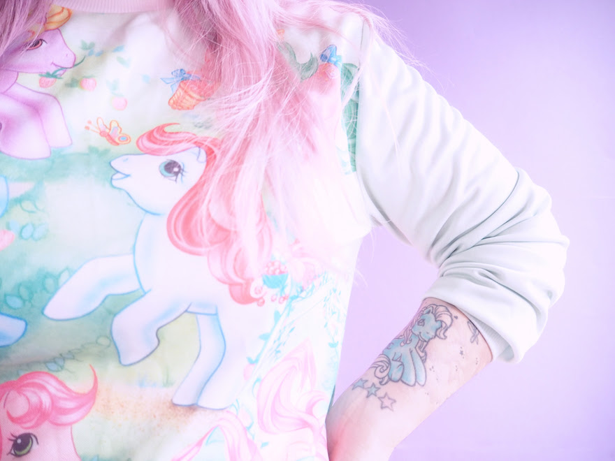 My Little Pony sweater and tattoo