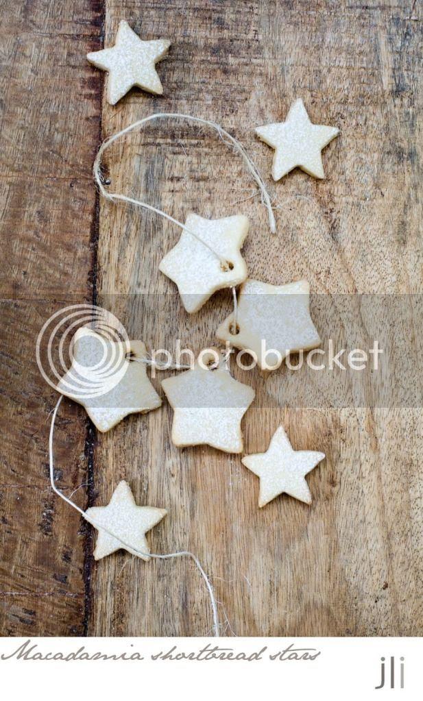 macadamia shortbread stars