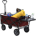 Mac Sports 8266 Red Folding Garden Utility Wagon with Table, Maroon