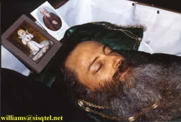 Father Seraphim in blessed repose. His face was so peaceful and beautiful that the traditional face cloth was removed.