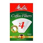 Melitta 624102 Super Premium Cone Coffee Filters, White, #4, 100-pack