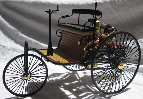 1886 Benz 3 wheeler Motorwagen front left