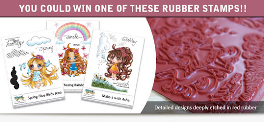 Meadow Girls Rubber Stamps Giveaway
