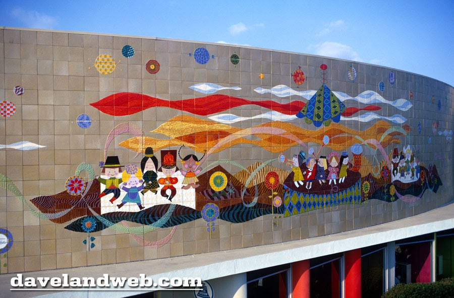 Davelandblog mary blair tile mural october 1968 for Disneyland mural