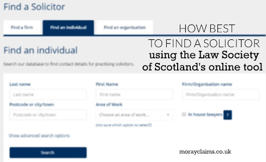 How best to find a Personal Injury Solicitor using the Law Society of Scotland's Online Tool